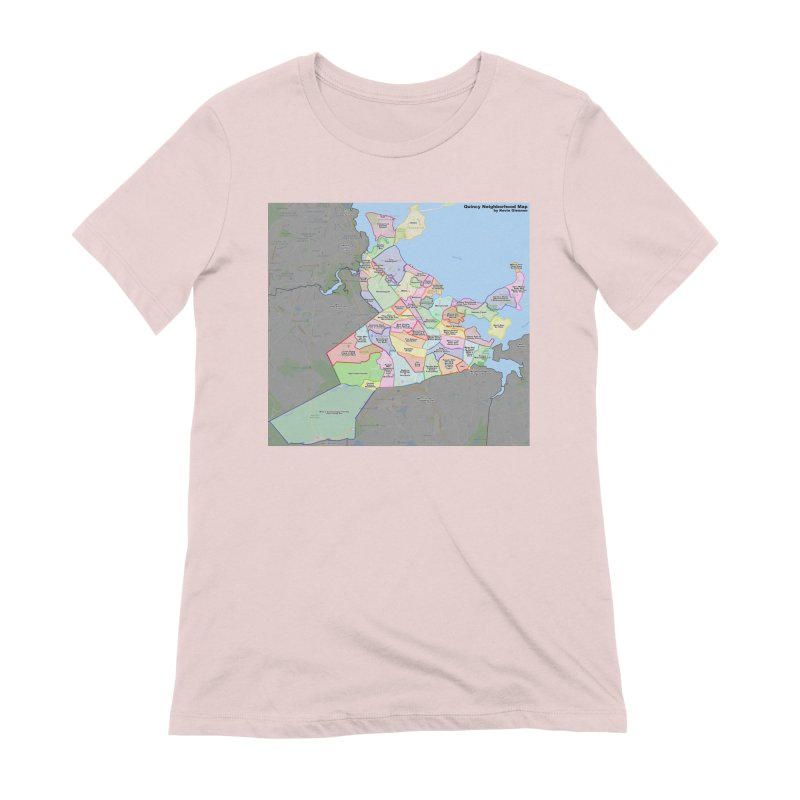 Quincy Neighborhood Map Women's Extra Soft T-Shirt by The United States Vampire Service Shop