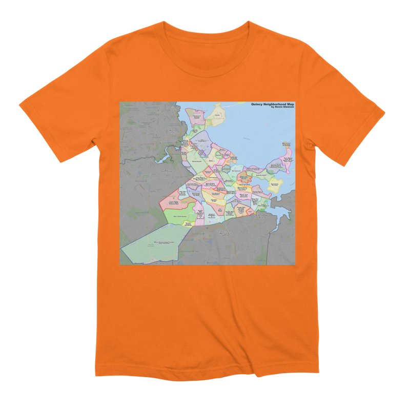 Quincy Neighborhood Map Men's Extra Soft T-Shirt by The United States Vampire Service Shop