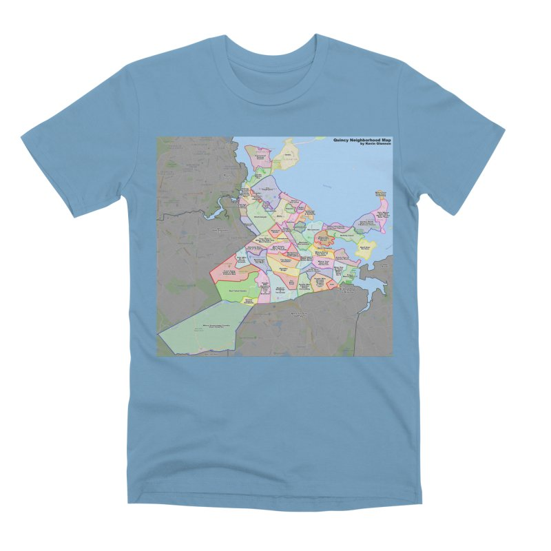 Quincy Neighborhood Map Men's Premium T-Shirt by The United States Vampire Service Shop