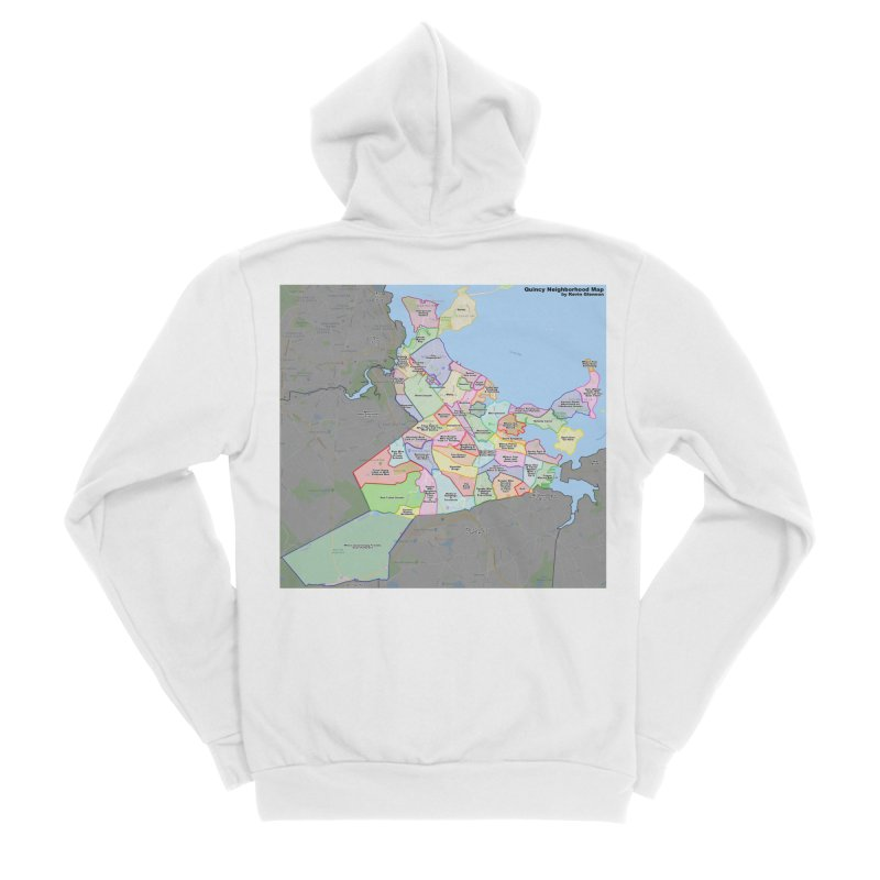 Quincy Neighborhood Map Men's Zip-Up Hoody by The United States Vampire Service Shop