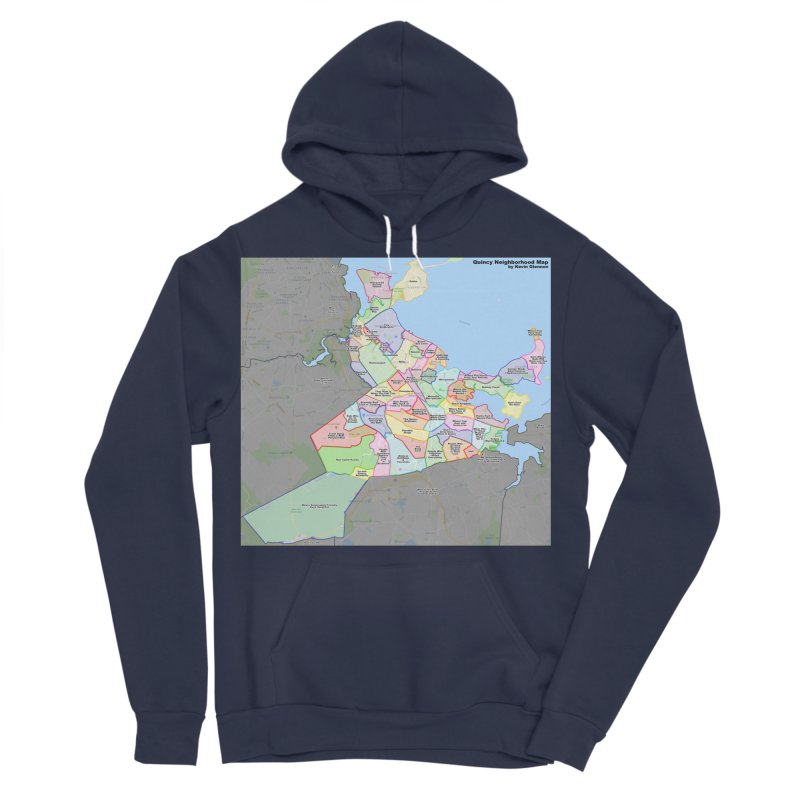 Quincy Neighborhood Map Women's Sponge Fleece Pullover Hoody by The United States Vampire Service Shop