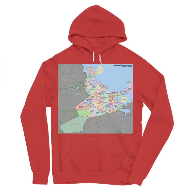 Quincy Neighborhood Map Women's Pullover Hoody by The United States Vampire Service Shop
