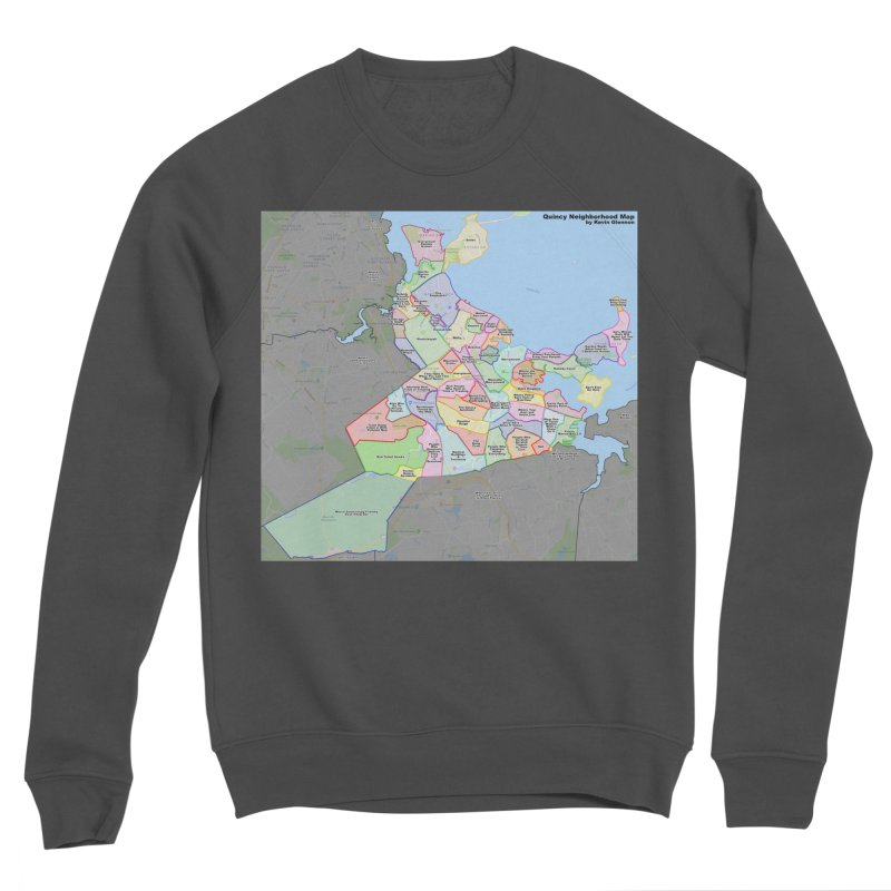 Quincy Neighborhood Map Women's Sponge Fleece Sweatshirt by The United States Vampire Service Shop