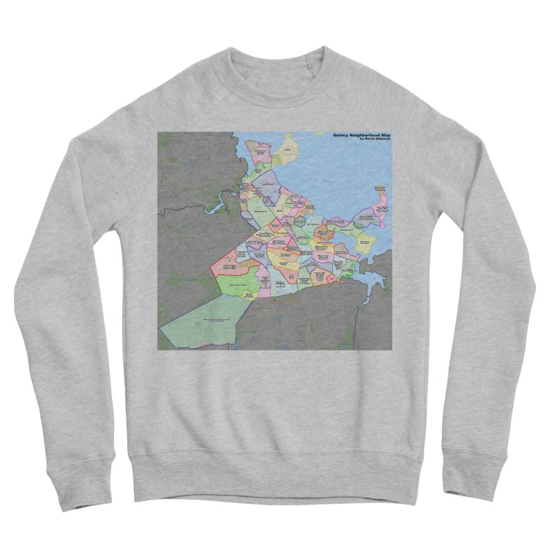 Quincy Neighborhood Map Men's Sponge Fleece Sweatshirt by The United States Vampire Service Shop