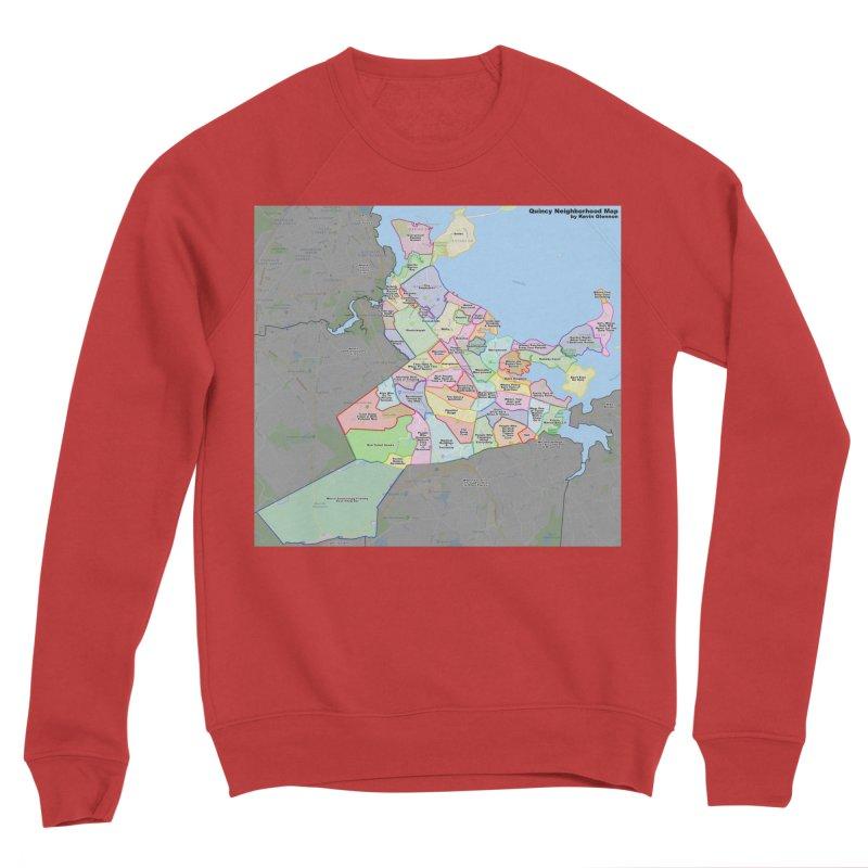 Quincy Neighborhood Map Women's Sponge Fleece Sweatshirt by The United States Vampire Service Shop