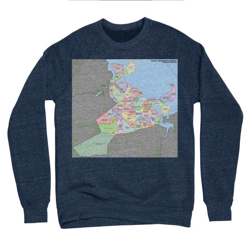 Quincy Neighborhood Map Men's Sponge Fleece Sweatshirt by The United States Vampire Service Shop