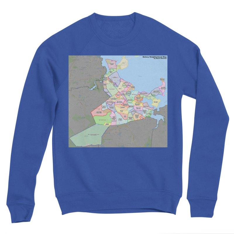 Quincy Neighborhood Map Men's Sweatshirt by The United States Vampire Service Shop