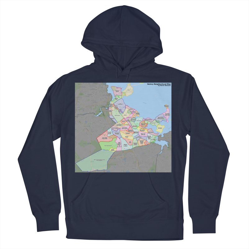 Quincy Neighborhood Map Men's Pullover Hoody by The United States Vampire Service Shop