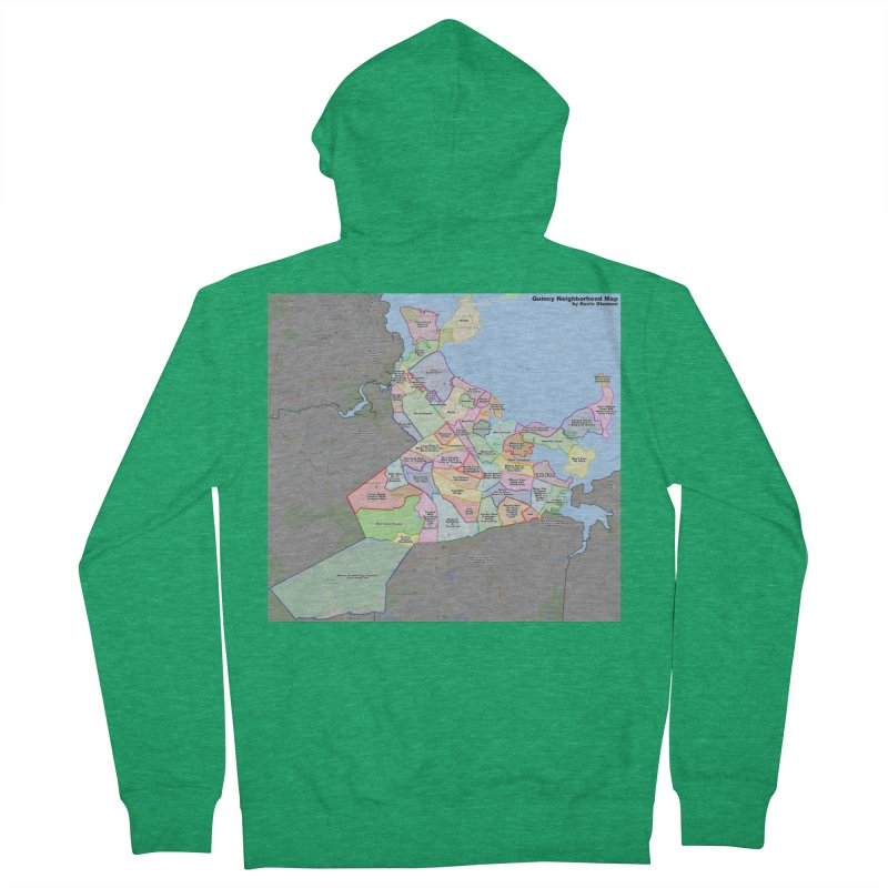 Quincy Neighborhood Map Women's Zip-Up Hoody by The United States Vampire Service Shop
