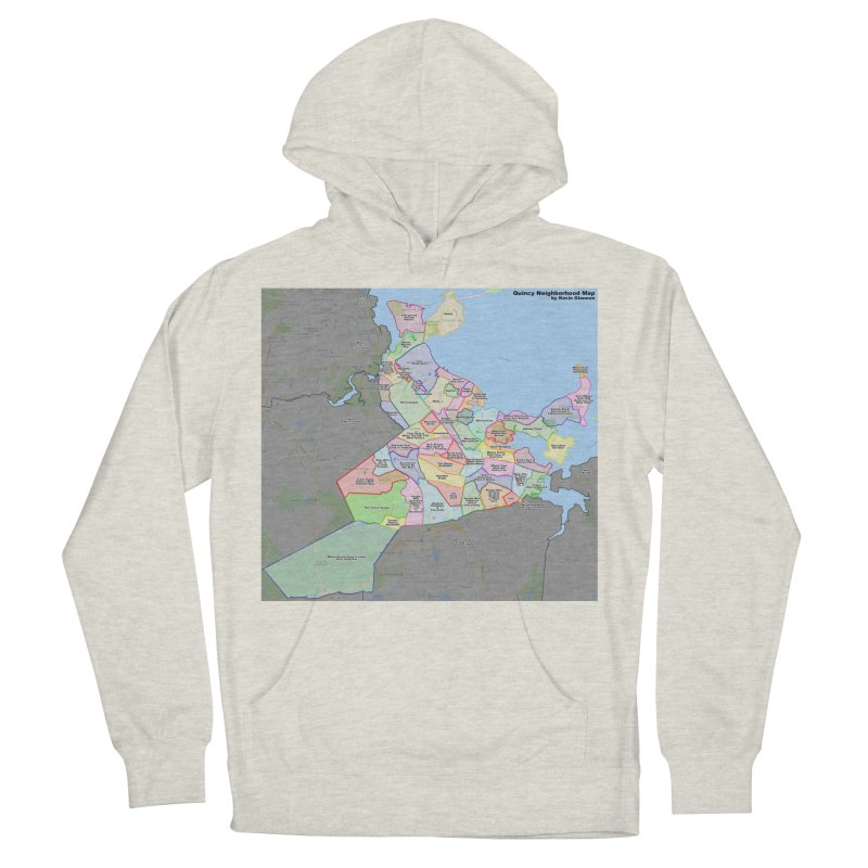 Quincy Neighborhood Map Women's French Terry Pullover Hoody by The United States Vampire Service Shop
