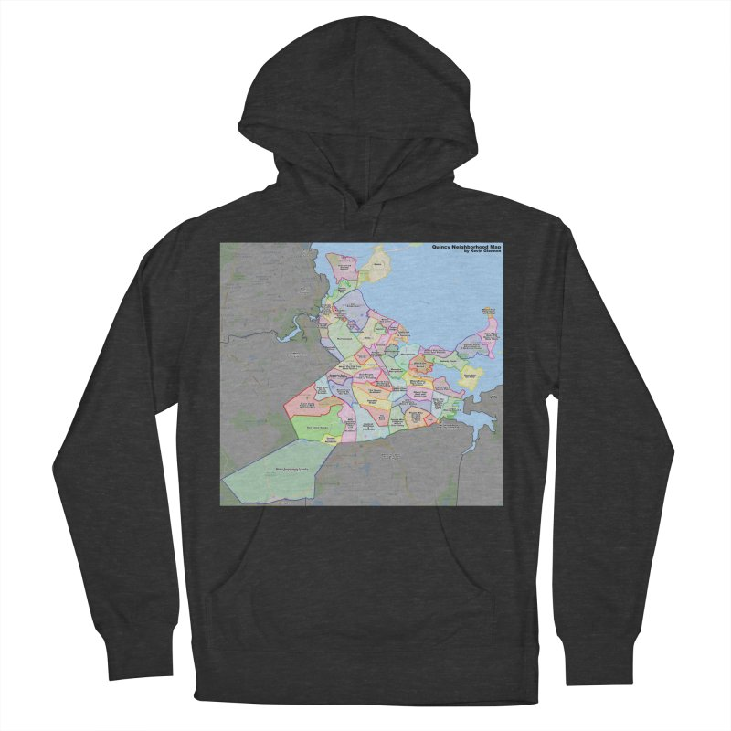 Quincy Neighborhood Map Men's French Terry Pullover Hoody by The United States Vampire Service Shop