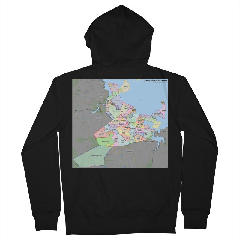 Quincy Neighborhood Map Women's French Terry Zip-Up Hoody by The United States Vampire Service Shop