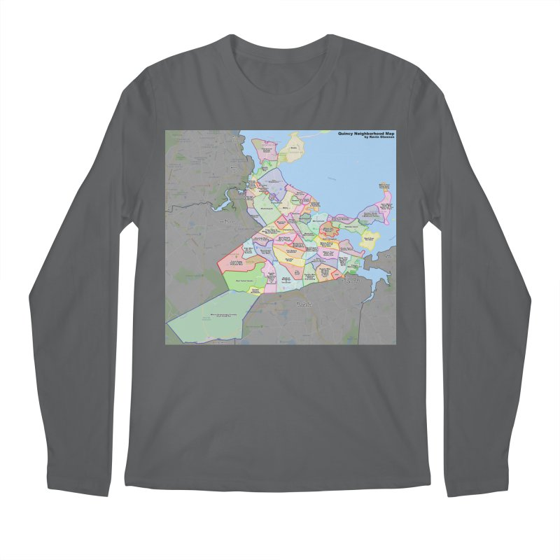Quincy Neighborhood Map Men's Longsleeve T-Shirt by The United States Vampire Service Shop