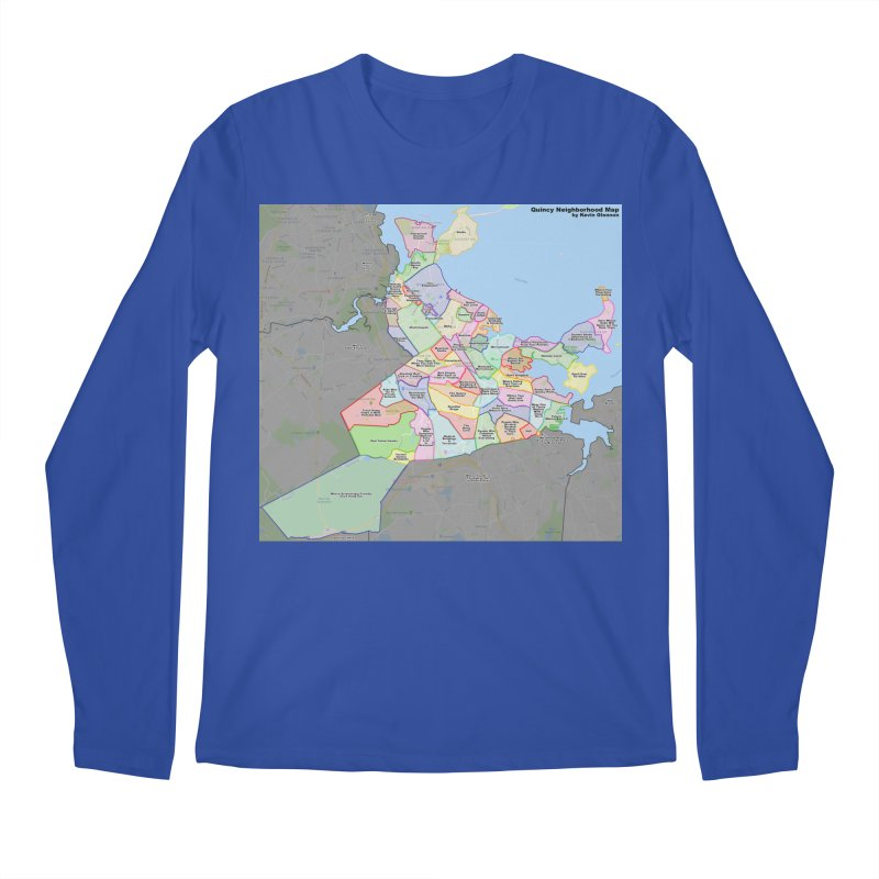 Quincy Neighborhood Map Men's Regular Longsleeve T-Shirt by The United States Vampire Service Shop