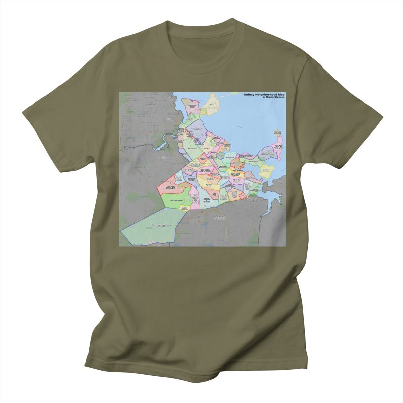Quincy Neighborhood Map Men's Regular T-Shirt by The United States Vampire Service Shop