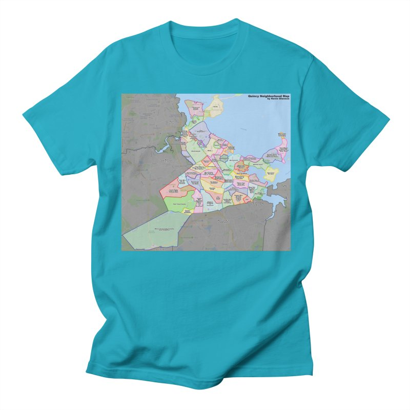 Quincy Neighborhood Map Women's Regular Unisex T-Shirt by The United States Vampire Service Shop