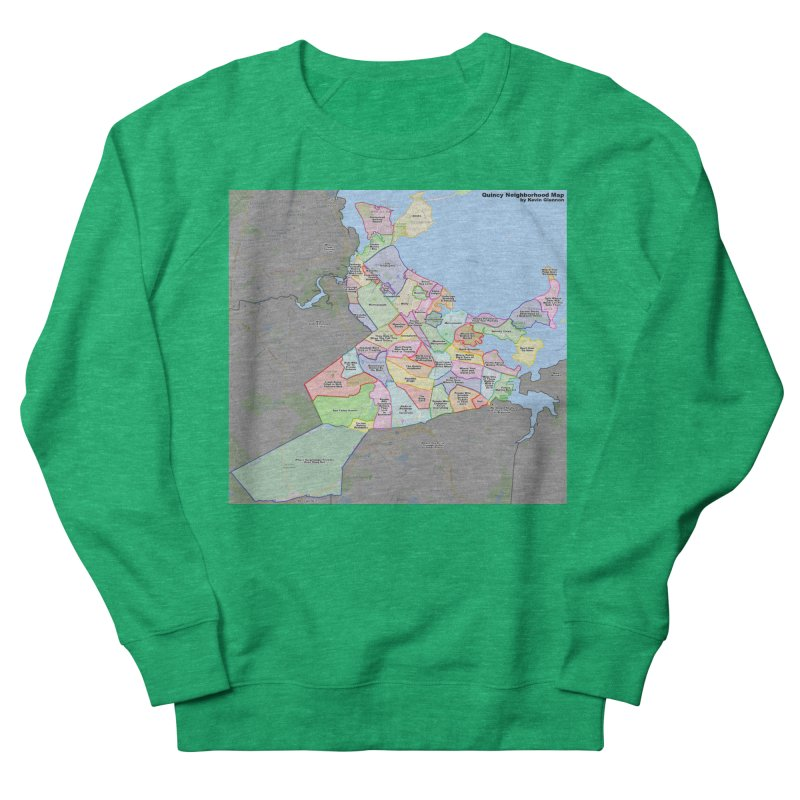 Quincy Neighborhood Map Women's Sweatshirt by The United States Vampire Service Shop