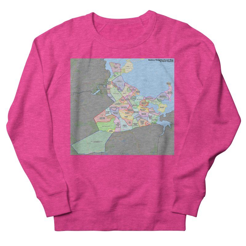 Quincy Neighborhood Map Women's French Terry Sweatshirt by The United States Vampire Service Shop