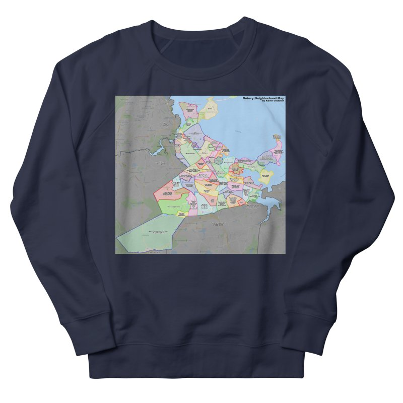 Quincy Neighborhood Map Men's French Terry Sweatshirt by The United States Vampire Service Shop
