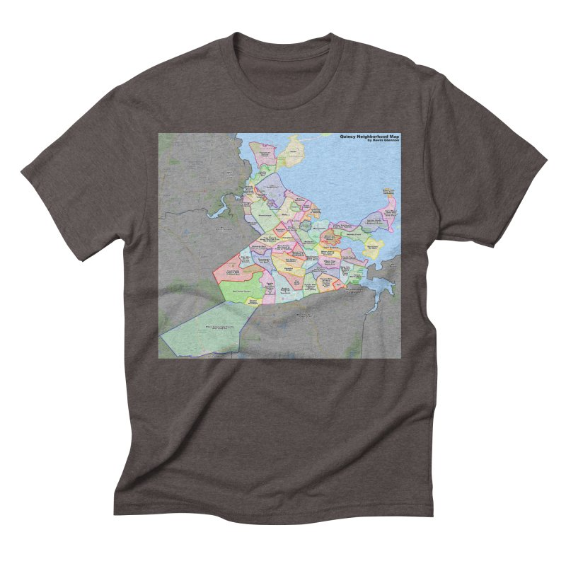 Quincy Neighborhood Map Men's Triblend T-Shirt by The United States Vampire Service Shop