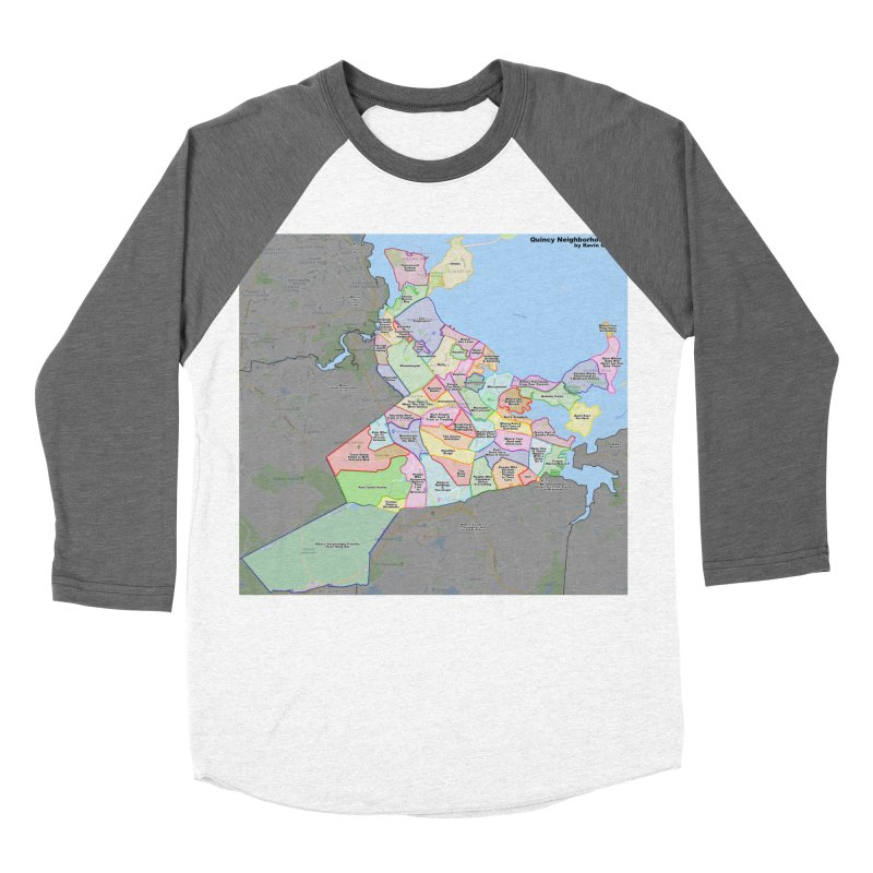 Quincy Neighborhood Map Women's Longsleeve T-Shirt by The United States Vampire Service Shop