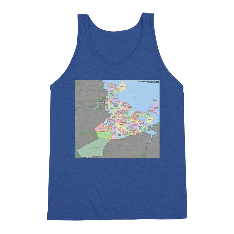 Quincy Neighborhood Map Men's Tank by The United States Vampire Service Shop