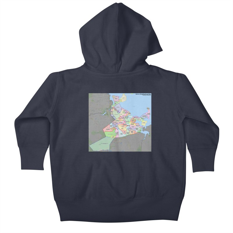 Quincy Neighborhood Map Kids Baby Zip-Up Hoody by The United States Vampire Service Shop