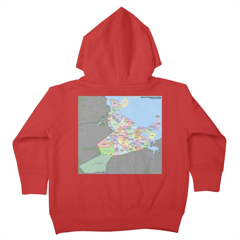 Quincy Neighborhood Map Kids Toddler Zip-Up Hoody by The United States Vampire Service Shop