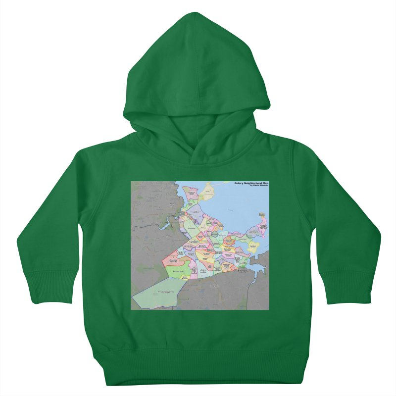 Quincy Neighborhood Map Kids Toddler Pullover Hoody by The United States Vampire Service Shop