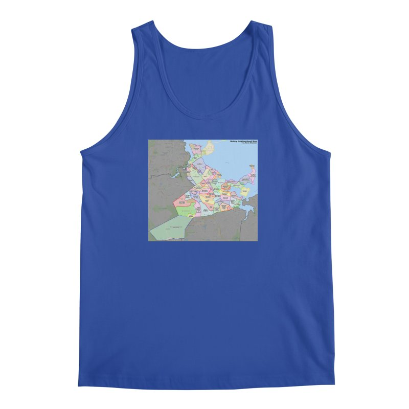 Quincy Neighborhood Map Men's Regular Tank by The United States Vampire Service Shop