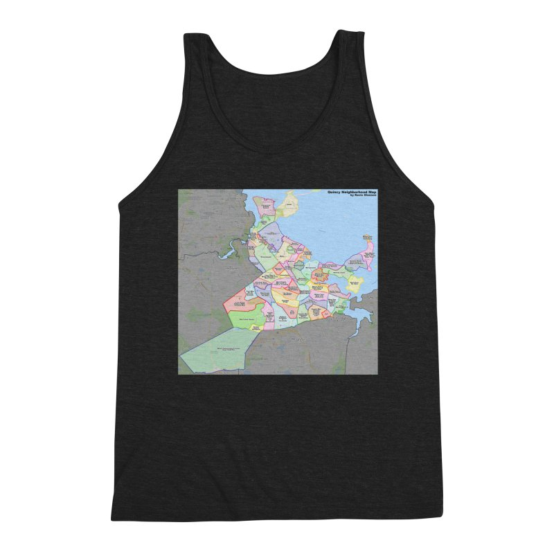 Quincy Neighborhood Map Men's Triblend Tank by The United States Vampire Service Shop