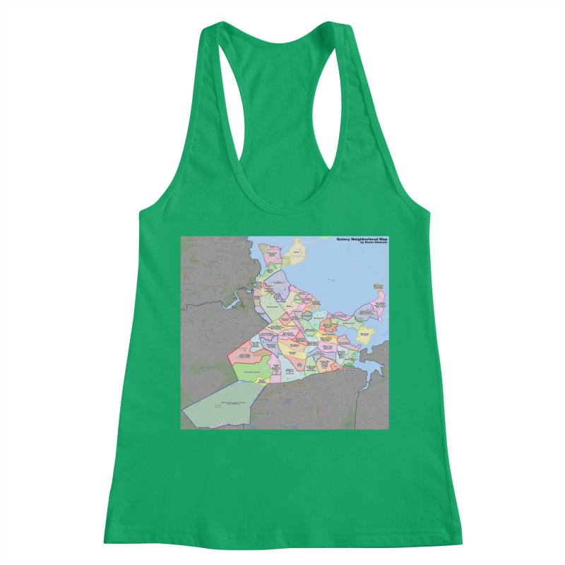 Quincy Neighborhood Map Women's Tank by The United States Vampire Service Shop