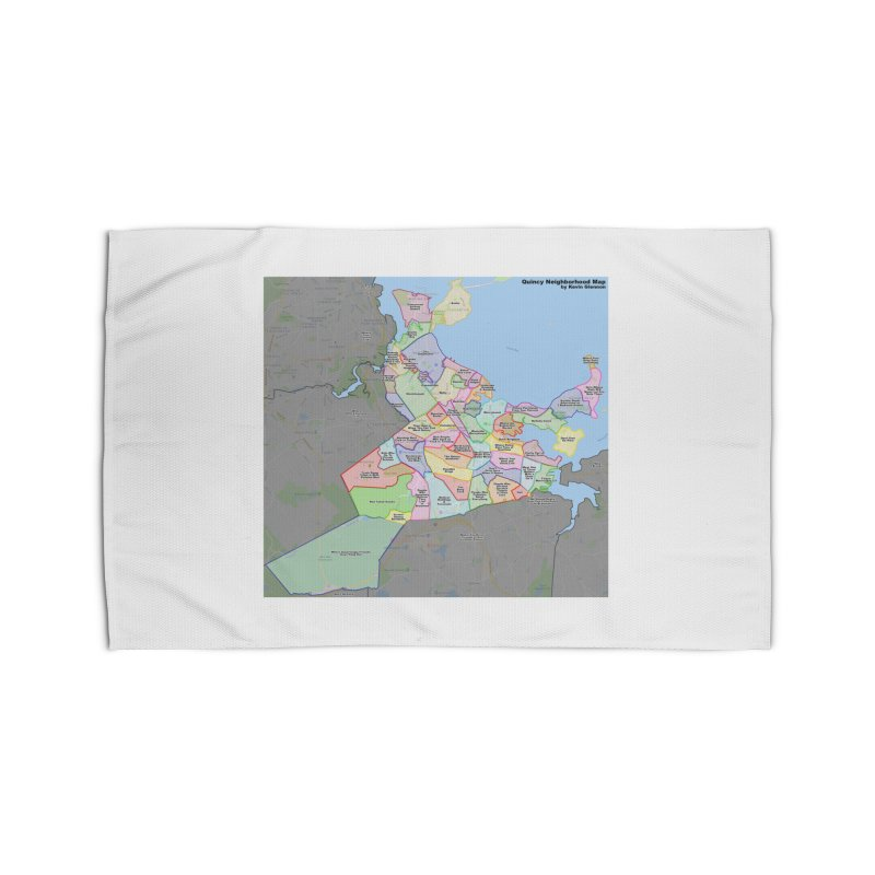 Quincy Neighborhood Map Home Rug by The United States Vampire Service Shop