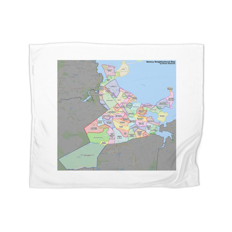 Quincy Neighborhood Map Home Fleece Blanket Blanket by The United States Vampire Service Shop