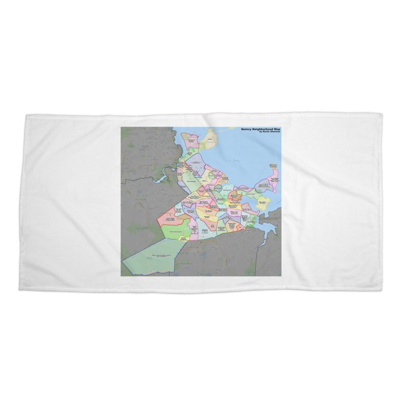 Quincy Neighborhood Map Accessories Beach Towel by The United States Vampire Service Shop