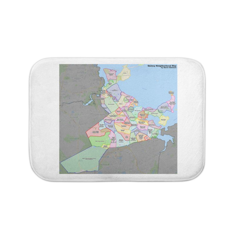 Quincy Neighborhood Map Home Bath Mat by The United States Vampire Service Shop