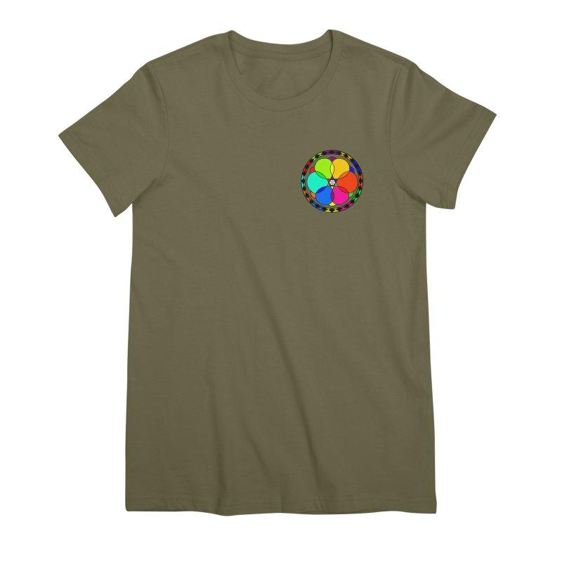 UGOVI - Heart Position - Transparent Women's Premium T-Shirt by Ugovi Artist Shop