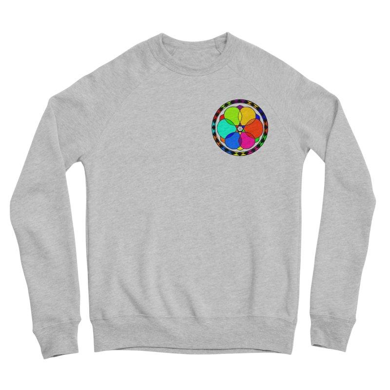 UGOVI - Heart Position - Transparent Men's Sponge Fleece Sweatshirt by Ugovi Artist Shop