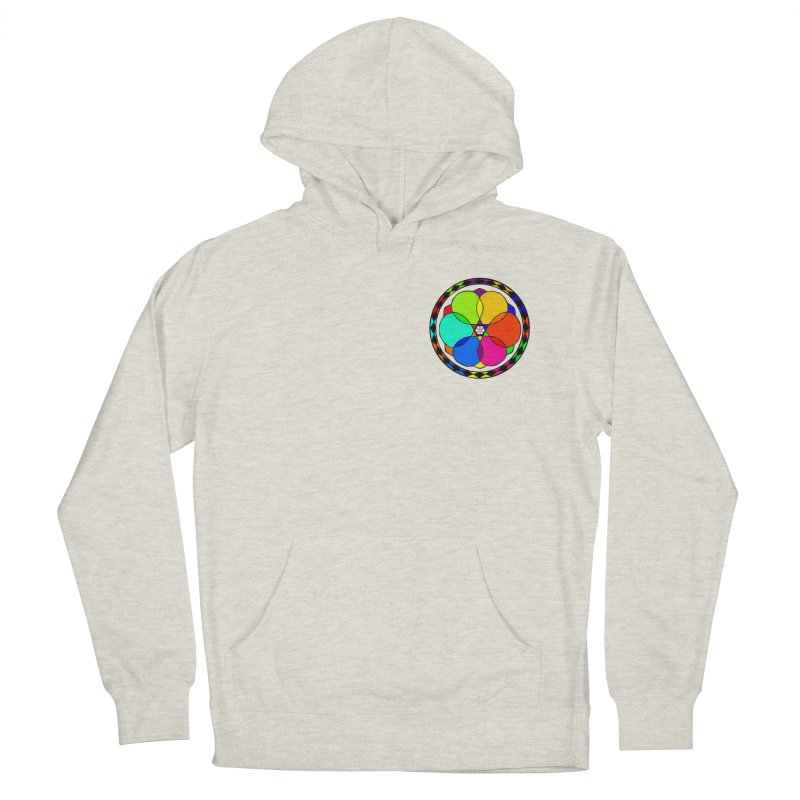 UGOVI - Heart Position - Transparent in Women's French Terry Pullover Hoody Heather Oatmeal by Ugovi Artist Shop