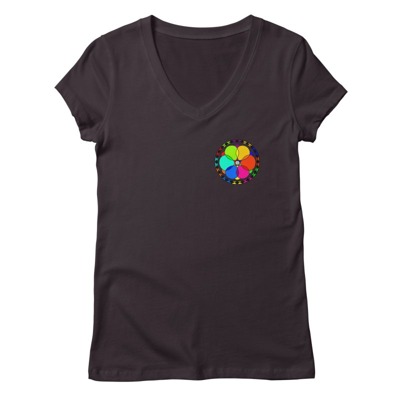 UGOVI - Heart Position - Transparent Women's Regular V-Neck by Ugovi Artist Shop