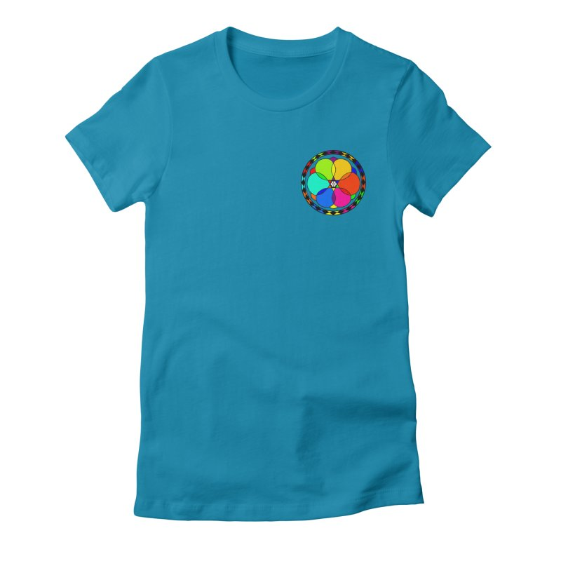 UGOVI - Heart Position - Transparent Women's Fitted T-Shirt by Ugovi Artist Shop