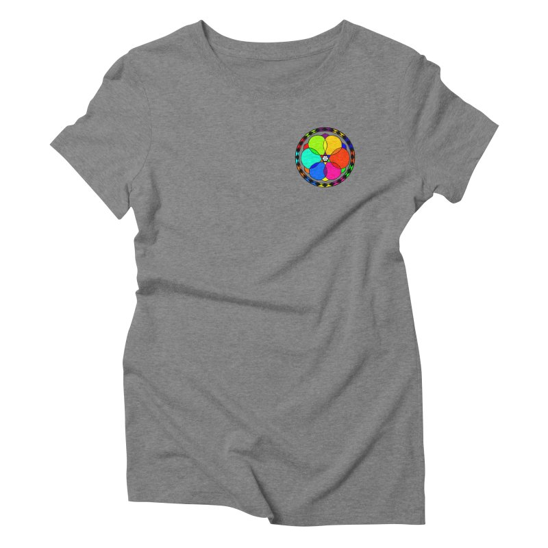 UGOVI - Heart Position - Transparent Women's Triblend T-Shirt by Ugovi Artist Shop