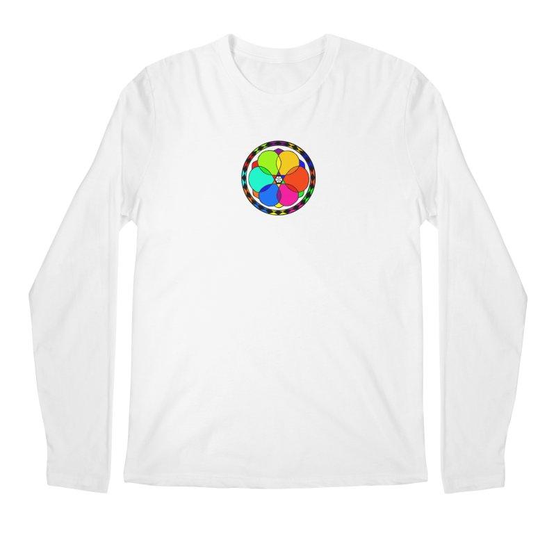 UGOVI - Center Chest - Transparent in Men's Regular Longsleeve T-Shirt White by Ugovi Artist Shop