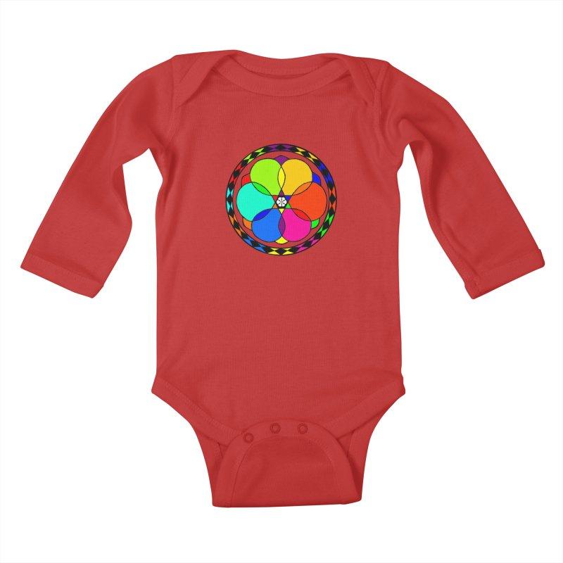 UGOVI - Center Chest - Transparent Kids Baby Longsleeve Bodysuit by Ugovi Artist Shop