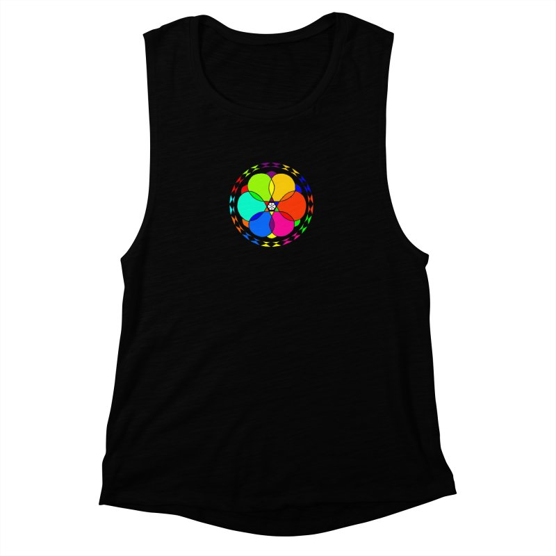 UGOVI - Center Chest - Transparent Women's Muscle Tank by Ugovi Artist Shop