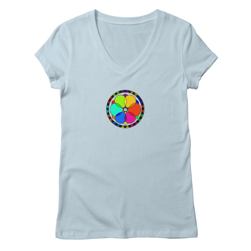 UGOVI - Center Chest - Transparent Women's Regular V-Neck by Ugovi Artist Shop
