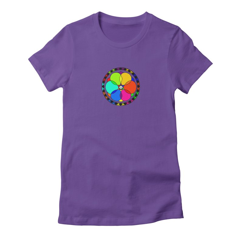 UGOVI - Center Chest - Transparent Women's Fitted T-Shirt by Ugovi Artist Shop