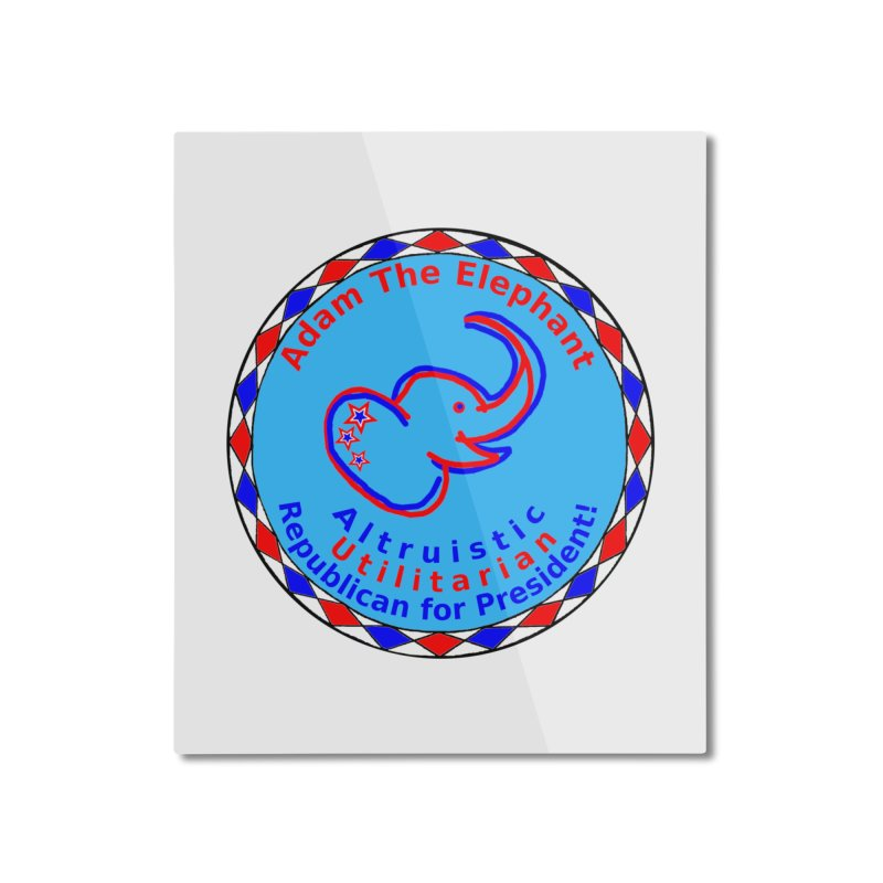 Adam The Elephant - Heart position - Altruistic Utilitarian Republican for President Home Mounted Aluminum Print by Ugovi Artist Shop