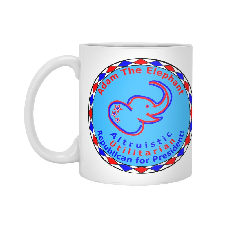 Adam The Elephant - Heart position - Altruistic Utilitarian Republican for President Accessories Standard Mug by Ugovi Artist Shop