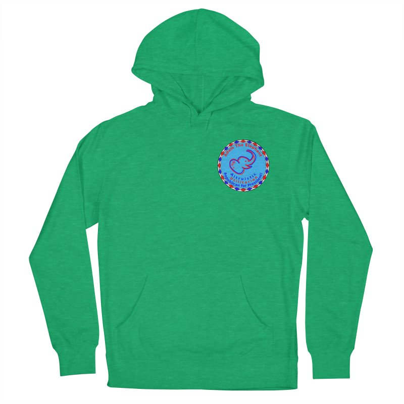 Adam The Elephant - Heart position - Altruistic Utilitarian Republican for President Women's French Terry Pullover Hoody by Ugovi Artist Shop